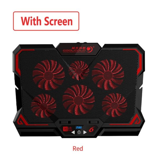 Are you looking for 17inch Gaming Laptop Cooler Six Fan Led Screen Two USB Port 2600RPM Laptop Cooling Pad Notebook Stand for Laptop then click here.